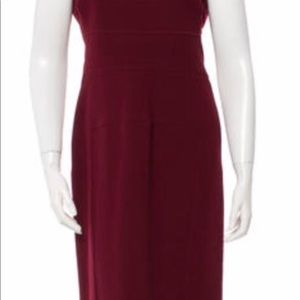 Burgundy Roland Mouret Sheath Dress